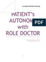 Patient's Autonomy and Role Doctor