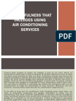 The Usefulness That Includes Using Air Conditioning Services