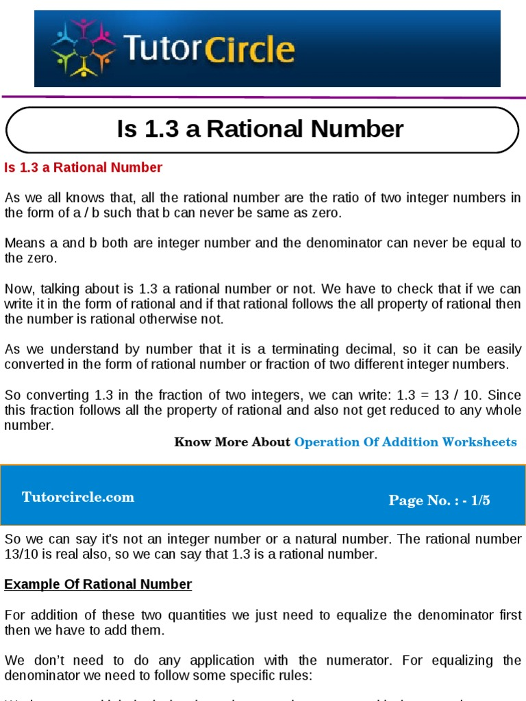 Is 13 A Rational Number Rational Number Fraction Mathematics