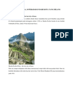 10 Peradaban Dari Kota Yang Hilang