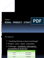 Rural Marketing Module IV