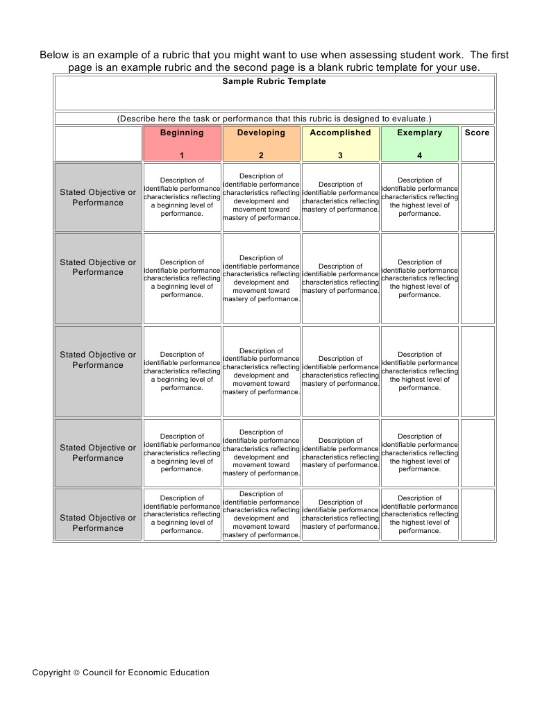 Rubric Business Plan  PDF  Rubric (Academic)  Quality Of Life Intended For Brochure Rubric Template