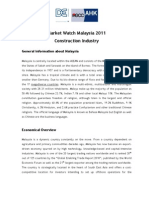 Market Watch Malaysia Construction Industry 2011