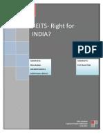 Capstone Project on REITS- Dhara Badiani KHR2009PGDMF012