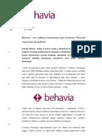 2008 12 02 Behavia - Siec Reklamy Typu Audience Network Rozpoczyna Dzialalnosc