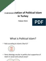 Transformation of Political Islam in Turkey