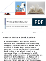 Writing Book Review