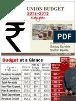 Budget 2012-13by Sachin Kakde