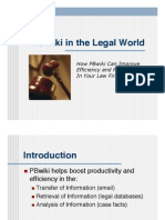 PBwiki in the Legal World