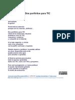 Letra Dos Portfolios para TIC