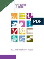 City of Glasgow College - Full Time Prospectus 2012-2013