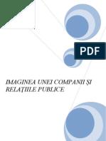IMAGINEA UNEI COMPANII ŞI RELAŢIILE PUBLICE