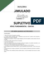 Simulado Fundamental Exatas1