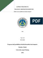 Laporan Organisasi Dan Arsitektur Komputer1
