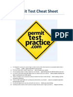 Dmv Permit Test Cheat Sheet