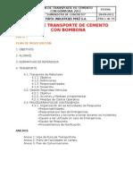 Plan de Transporte de Cemento Con Bombona