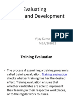 Evaluating Training and Developament
