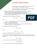 Guided Tour on VAR Innovation Response Analysis