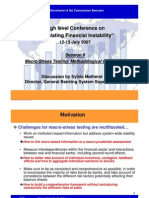 High Level Conference on Simulating Financial Instability