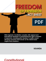 A Fact Sheet on Freedom of Expression in Uganda