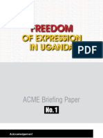 Freedom of Expression in Uganda