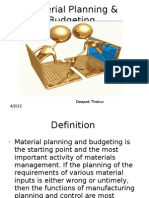Material Planning & Budgeting