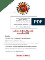 La Lettre de FAL Marseille Novembre 2011