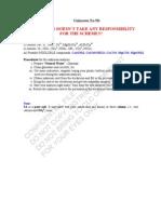 Sample Scheme for Unknown5