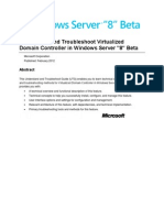 Understand and Troubleshoot Virtualized Domain Controller in Windows Server 8 Beta