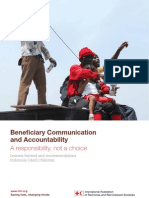 Beneficiary Communication and Accountability