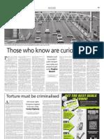 Torture must be criminalised