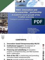 3 - Zoran Barišić - R&D, innovation and Enterpreneurship partnership - a model for smart growth of the Croatian economy