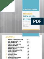 Asistensi Umum Mekanika Fluida 2012