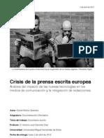 Crisis de la prensa escrita europea
