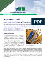 108 HF or UHF for LOLER