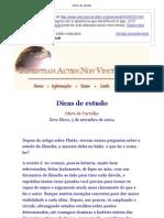 Dicas de Estudo - Olavo de Carvalho