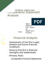 Comparative Statement Analysis