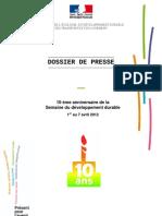 10e édition de la Semaine du Développement Durable
