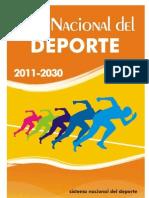 Plan Nacional Del Deporte 2011 2030