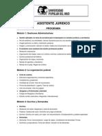 PROGRAMA ASISTENTE JURIDICO