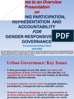 Bangladesh Improving Participation, Representation and Accountability for Gender-Responsive Urban Governance
