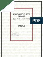 FINAL ACHIEVEMENT TEST REPORT