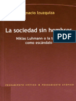 Izuzquita Ignacio - La Sociedad Sin Hombres