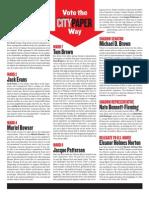 Washington City Paper 2012 Primary Endorsements