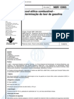 [ABNT-NBR 13993] - Álcool Etílico Combustível - Determinação do Teor de Gasolina