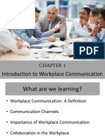Chapter 1 - Intro to Workplace Comm