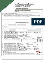 2011 Tax Return Checklist