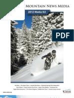 Colorado Mountain News Media 2012 Media Kit