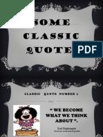 Some Classic Quotes