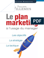 Le plan marketing à l'usage du manager